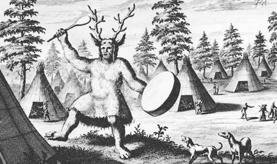 Siberian Shaman drawn by Duth Explorer Nicolaes Witsen